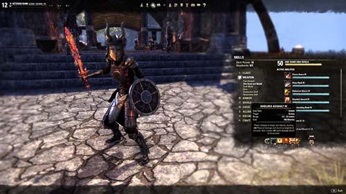 Elder Scrolls Online Dragon Knight Secondary DPS Build Non