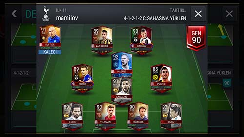 FIFA Mobile Lineup and Leveling
